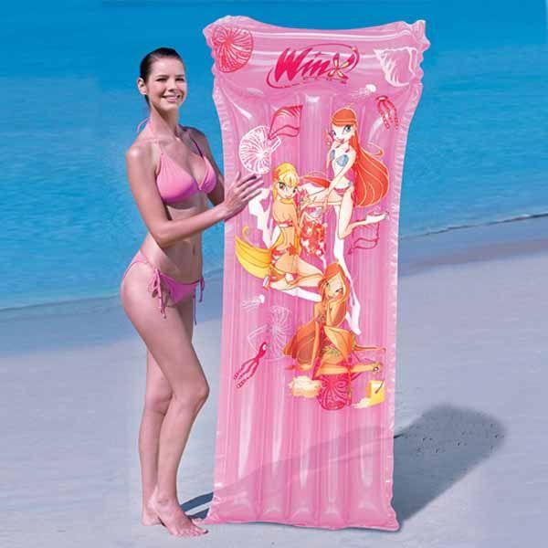 Materassino gonfiabile galleggiante Winx mare spiaggia piscina 183X76 cm rosa
