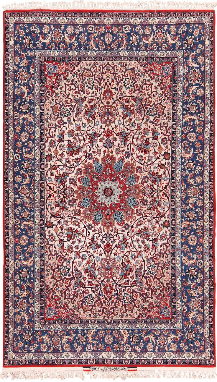 View this breathtaking Persian silk and wool vintage Isfahan signed Seyrafian rug #49619 available for sale at Nazmiyal's extensive Collection of Antique