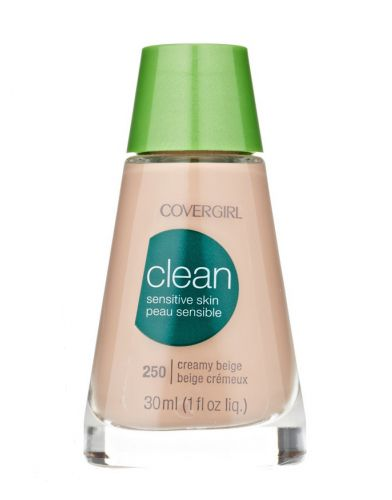 Let your sensitive skin breathe with this 100% fragrance-free and oil-free foundation.  CoverGirl Clean Makeup for Sensitive Skin, $6.50, pharmapacks.com.
