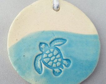Sea Turtle Ornament:Blue Ready to Ship!