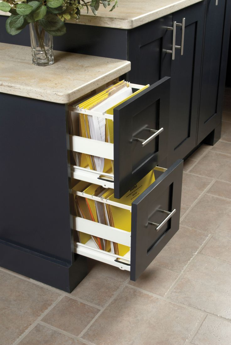 Kitchen craft cabinets dimensions - The File Drawer From Kitchen Craft Will Conveniently Keep Important Documents At Your Fingertips With Style