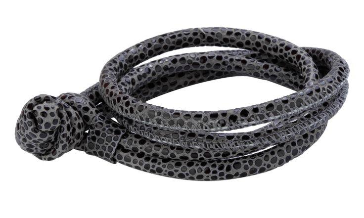 Joy de la Luz | Leather bracelet stingray black