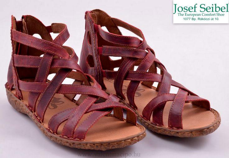 Josef Seibel piros női szandál, minden lépésnél tökéletesen illeszkedik a lábához és a sarkánál található cipzár segítségével egyszerűen és gyorsan felvehető :)  http://valentinacipo.hu/josef-seibel/noi/piros/szandal/142634440  #Josef_seibel #női_szandál #Josef_seibel_cipőbolt