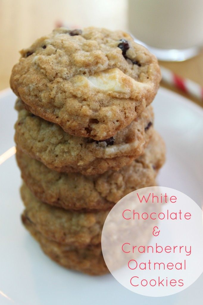 White Chocolate & Cranberry Oatmeal Cookies