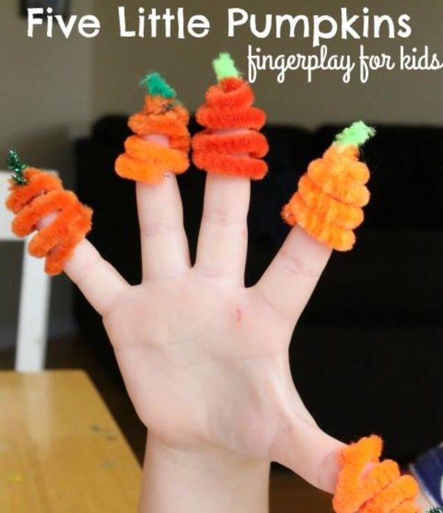 5 little pumpkins finger play craft, activity & song