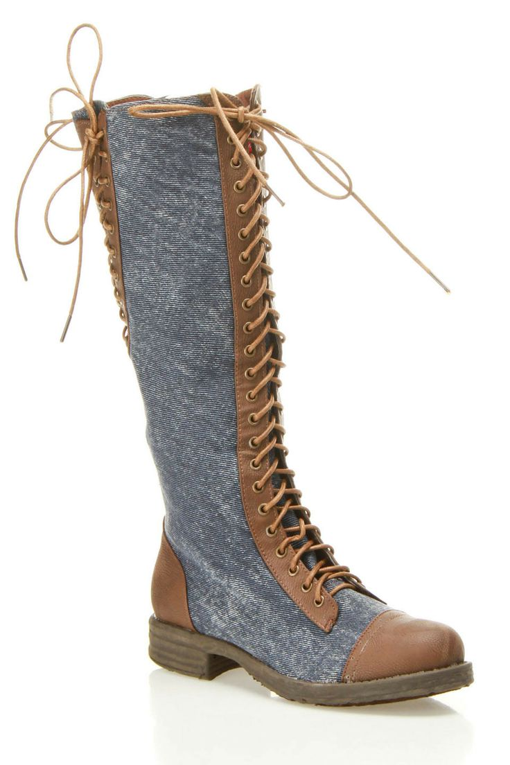 Dollhouse Europa Knee High Lace Up Riding Boot.  Love these! Could never wear them, they'd likely reach my butt! But sure like'm...