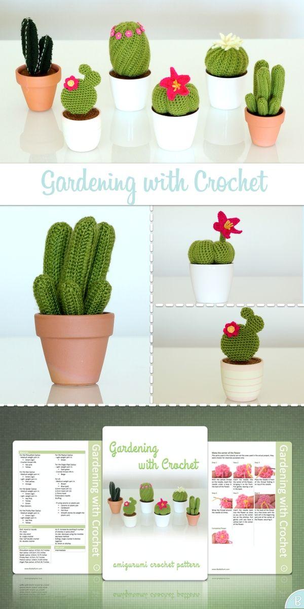 Amigurumi cactus pattern - 6 cactus pack by BuddyRumi