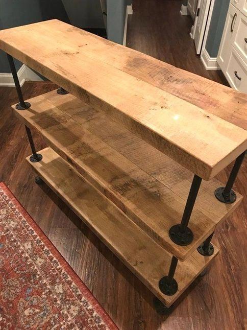 barn wood 3 tier sofa table sofa woodworkingprojects woodworking rh pinterest com