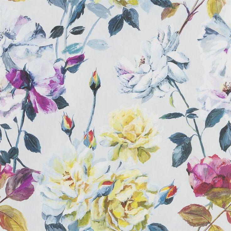 Couture Rose Fuchsia Wallpaper | Designers Guild