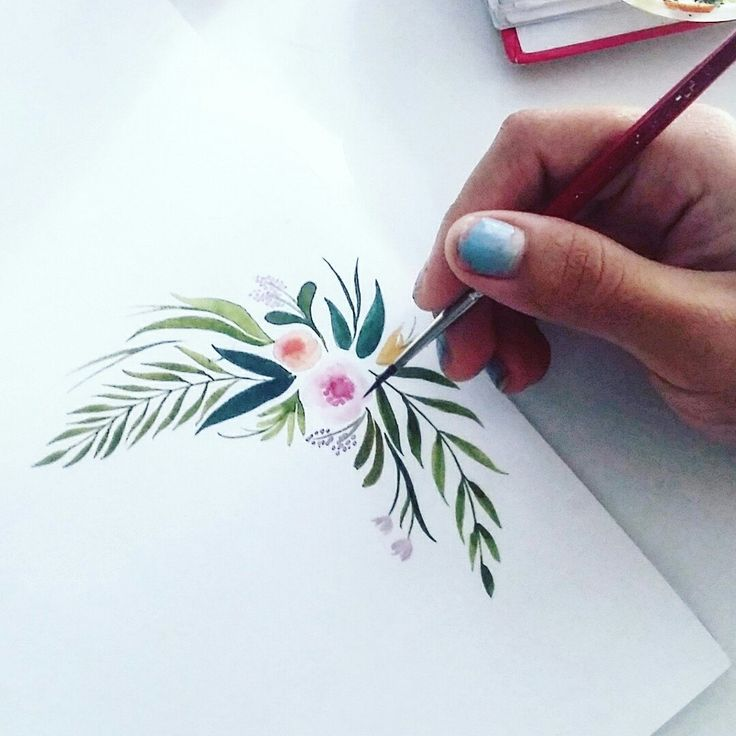 Painting a mothers day card in watercolour