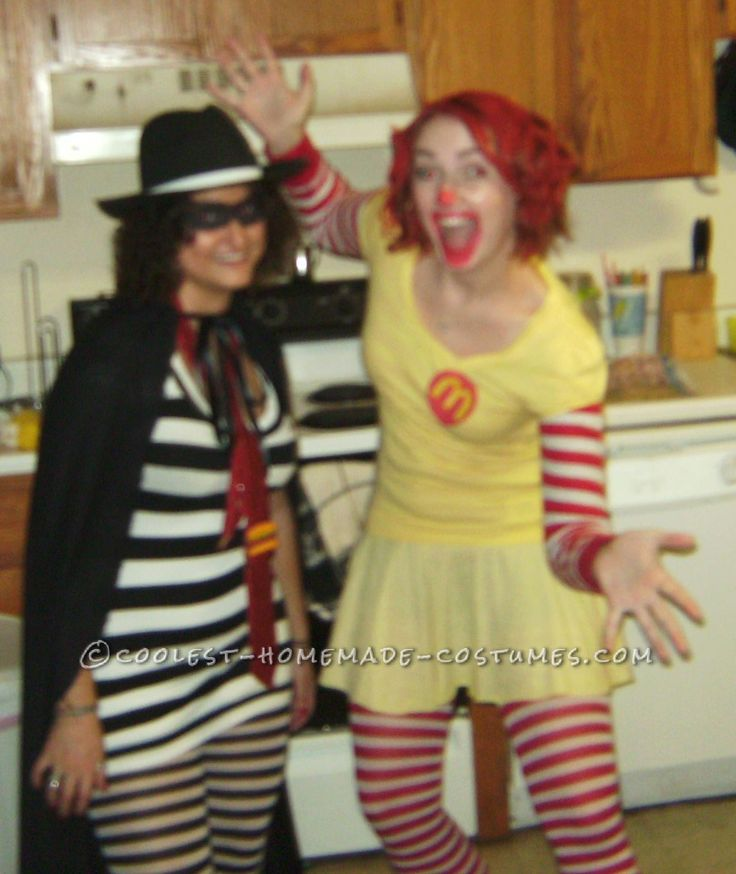 Fun and Easy Ronald McDonald and Hamburglar Costumes... This website is the Pinterest of costumes