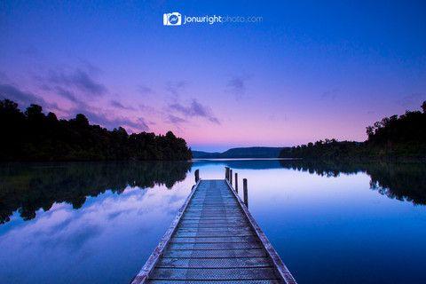 Dawn at Lake Mapourika - New Zealand