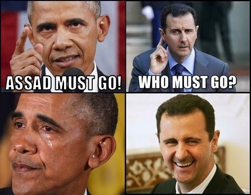 Assad is still standing - these criminals are not.