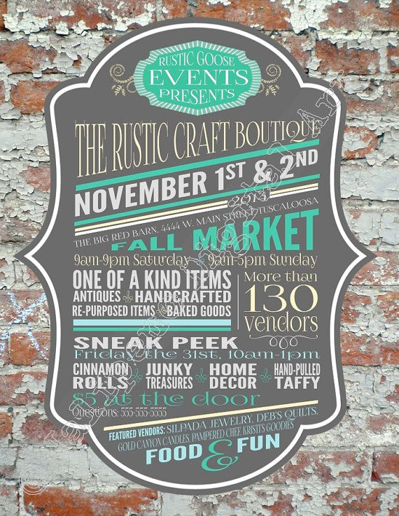 65 Best Craft Fair Posters Images On Pinterest Craft Fairs