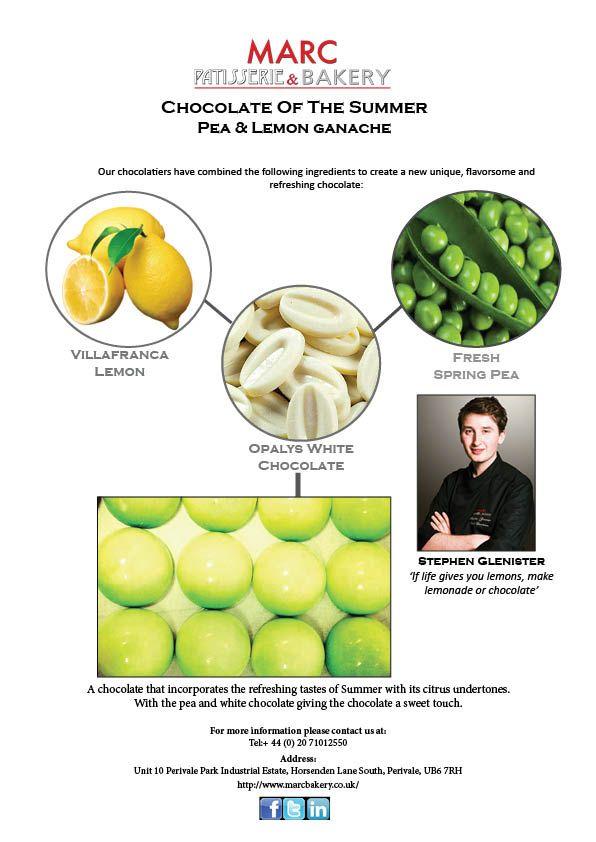 MARC Patisserie & Bakery's Product of the Month- Pea & Lemon Ganache #Chocolate #Lemon #Pea #MARC #MarcPatisserieBakery #Summer #June