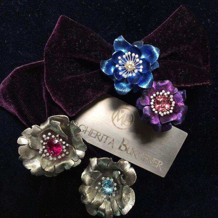 """Anelli in titanio e pietre preziose. Margherita Burgener. #fiori #flowers #nature #rings #margheritaburgener #italian #madeinitaly #highjewelery…"""