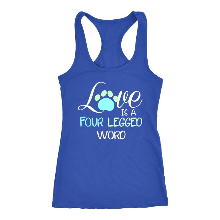 Pets - Love is four legged word Tank Top
