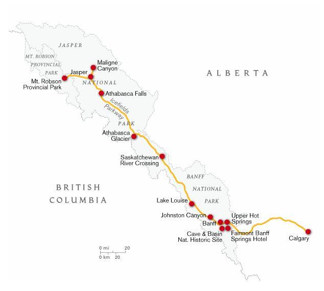 mapa Estrada mais bonita do mundo
