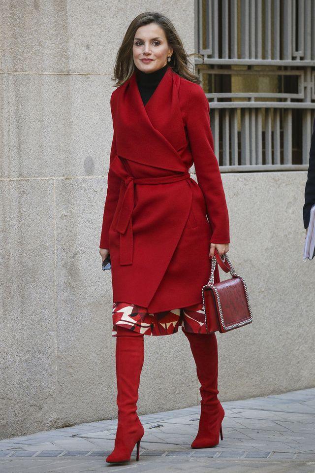 Abrigo rojo hugo boss