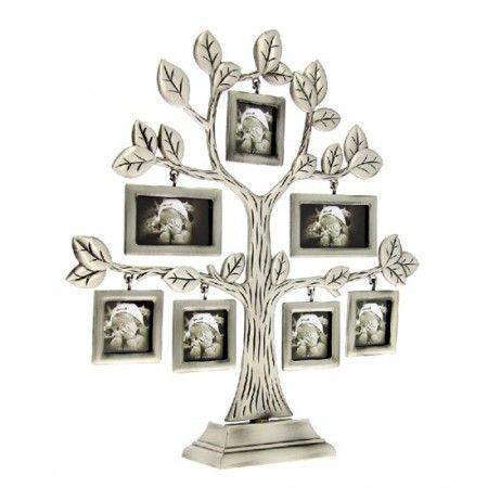 Fényképtartó, családfa, 7 db képhez (képkeret)