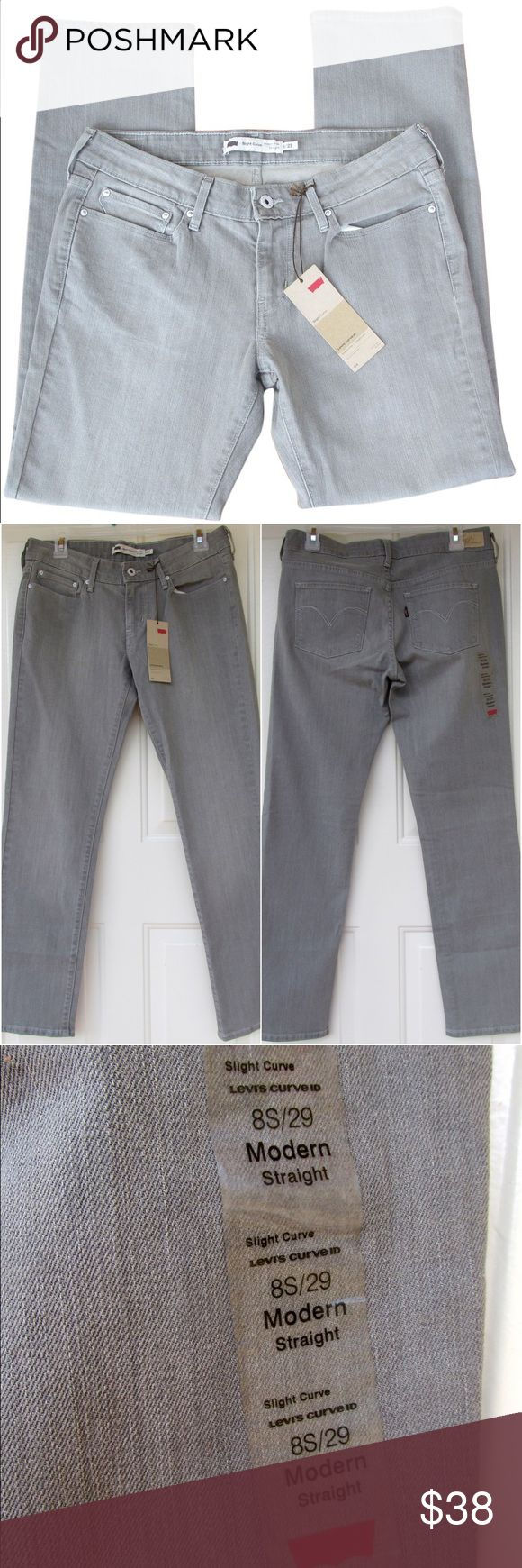 ✨SALE🆕Levi's Grey Washed Straight Jeans ~SALE!✨Reduced from $38 to $30. Weekend price is firm!~  NWT! New with tags! These are Levi's jeans in a medium wash grey color. The model is Slight Curve, they are modern rise, and straight leg. No swaps/trades. Levi's Jeans Straight Leg