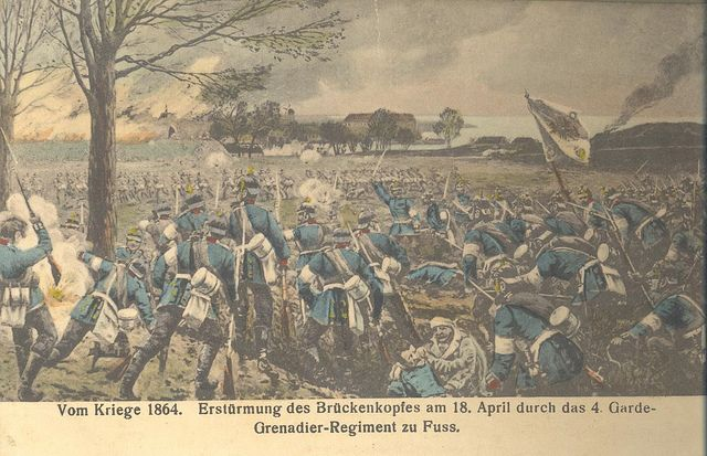 The battle of Dybbøl, March 18, 1864.