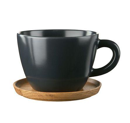 Höganäs Keramik - Våra produkter - Muggar - Temugg med träfat 50 cl