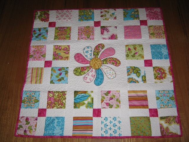 Santorini Charm Pack Baby Quilt By Ladybug Quilting Via