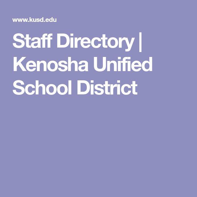 Staff Directory | Kenosha Unified School District
