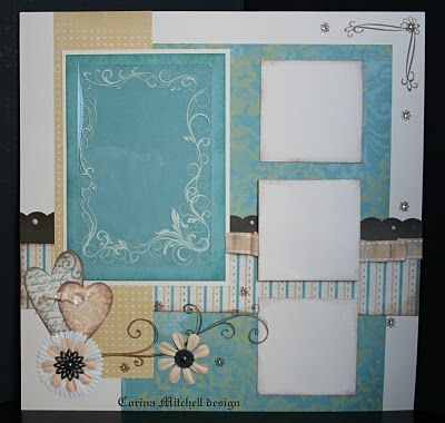 Do Facing page as mirror image like the layers n colors. Scrapbooking layout