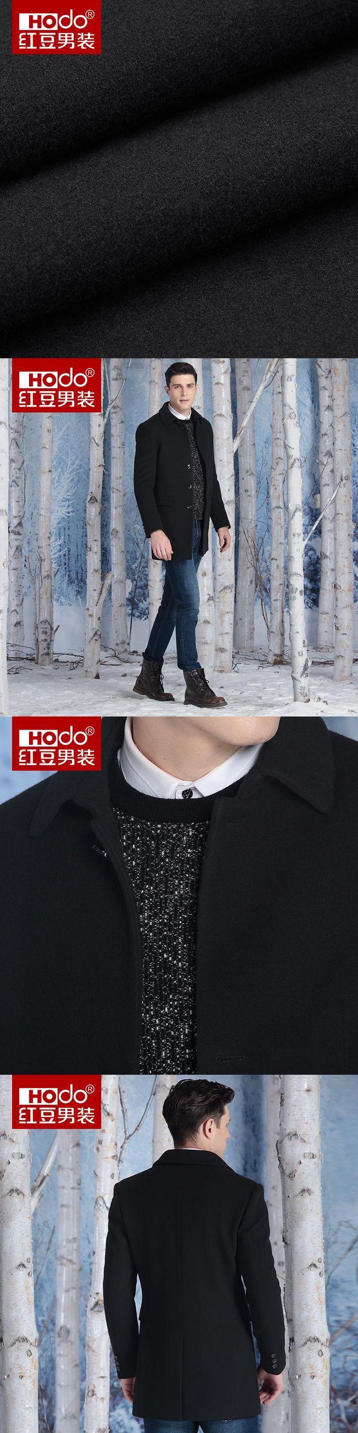 Hodo Winter Coat Men Long  Men Overcoat Wool Fashion  Men's Wool Coat Mens Overcoat