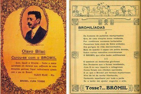 Propaganda do Bromil com Olavo Bilac nos anos 20.