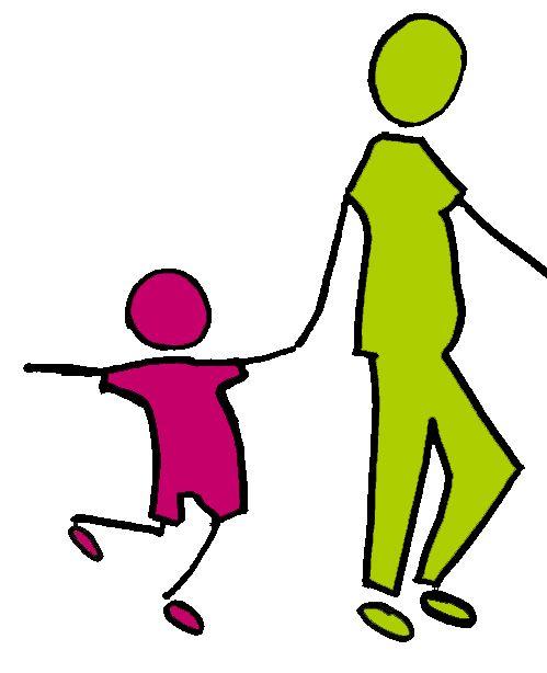enfants par la main