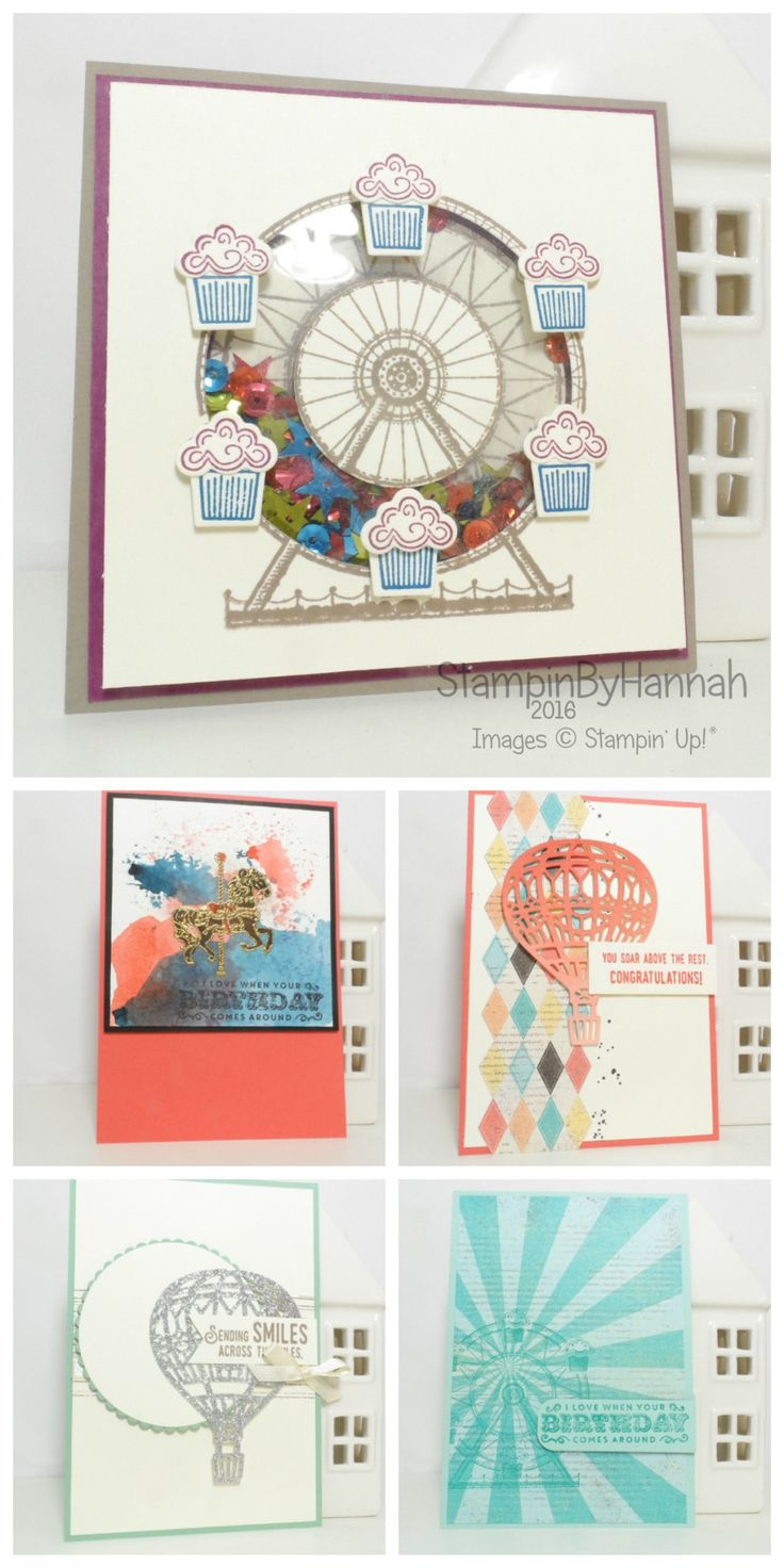 Stampin' Up! UK OnStage Display Board Stamper Makes 2016 Lift Me Up Carousel Birthday
