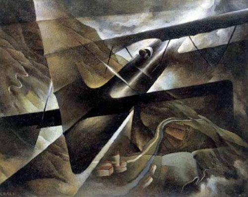 Shaking Flight [Tullio Crali, 1939] #art #painting #futurism