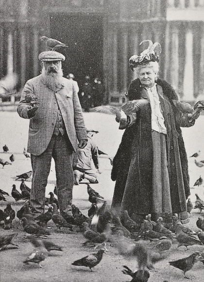 wallacegardens: Claude Monet and Alice Hoschedé Monet in Piazza San Marco, Venice, October 6, 1908.