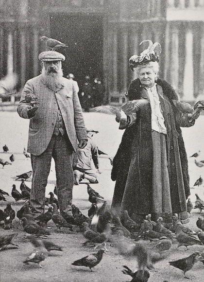 wallacegardens: Claude Monet and Alice Hoschedé Monet in Piazza San Marco, Venice, October 6, 1908.