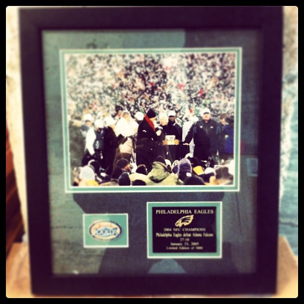 2005 Philadelphia Eagles Super Bowl XXXIX NFC Championship Photo Plaque (Outbid #SuperBowl Auction)