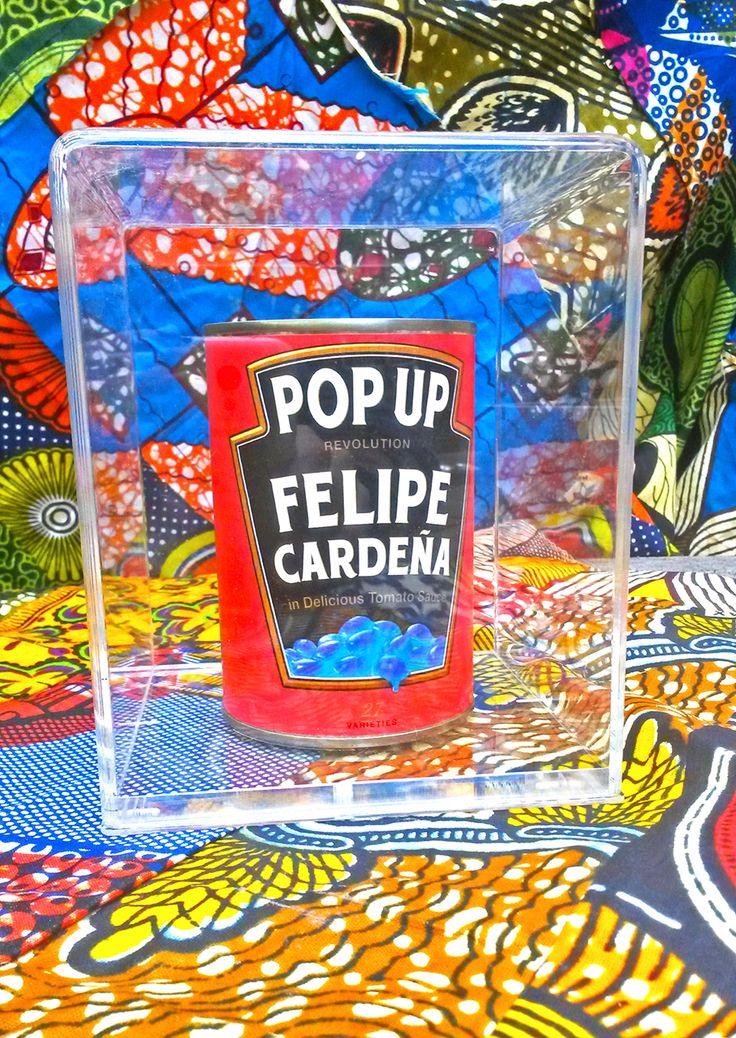 Sara Baxter, Pop Up Heinz (Felipe Cardeña), 2014, mixed media.