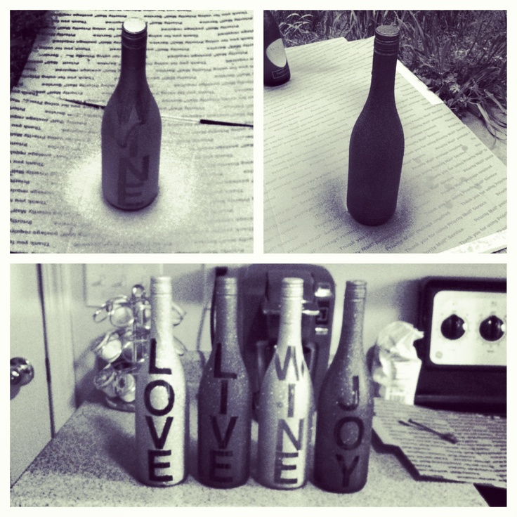 Wine Craft :) Adorable for a college apartment. #DIY #wine #recycle