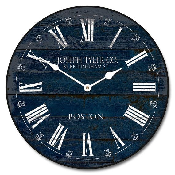 Barnwood Navy Blue Wall Clock 10 60 Whisper Quiet Nonticking U003eu003eu003e Learn More  By Visiting The Image Link.