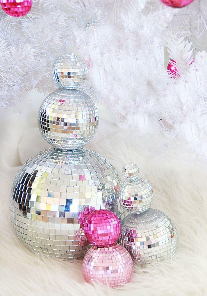 DIY Disco Ball Snowman