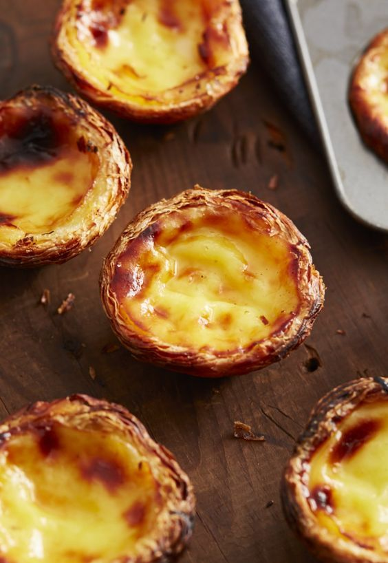This is the authentic Portuguese Custard Tarts recipe used by a bakery in Lisbon. Use the 6 tips provided in the recipe to make a perfectly crisp and nicely browned custard tart without hassle.