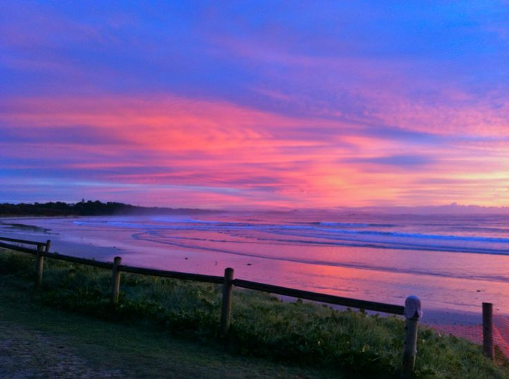 Sunrise at Woolgoolga Beach (photo by C Meredith)