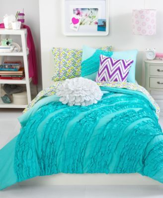Teen Vogue Bedding | Teen Vogue Bedding, Ella Ruffle Comforter Sets - Bedding Collections ...