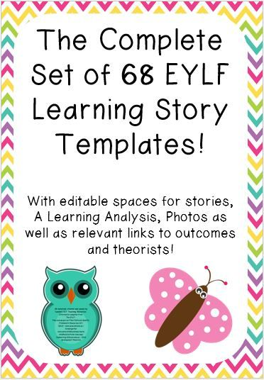 This set of 68 EYLF Learning Story Templates is beautifully designed and contain spaces for stories, learning analysis and photos. It also has relevant EYLF Outcome and Theorist links. The set includes the following story templates: Animal Safari Ball Skills Being a part of my Community Block Play My Birthday (Boy) My Birthday (Girl) Celebrating …