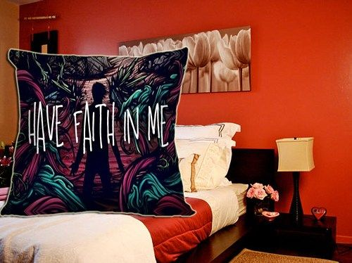 "A Day to remember Have Faith In Me Include Inner Pillow Case 18""x18"""