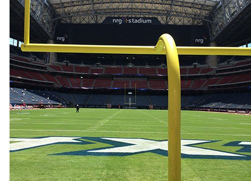 Super Bowl Goal Posts Bring Pride to Delhi - For the third time in the past four NFL seasons, football goal posts manufactured by Sportsfield Specialties, Inc. (SSI) in Delhi, NY will make an appearance framing the playing field at the Super Bowl.  - Jan 2017 #superbowl #footballgoals #adjustright #sportsequipment #delhi #sportsfieldspecialties