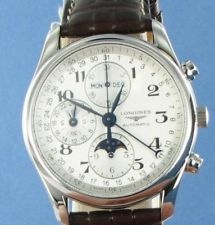 Longines L2.673.4.78.3 Master Collection Complications Moonphase Chrono Watch