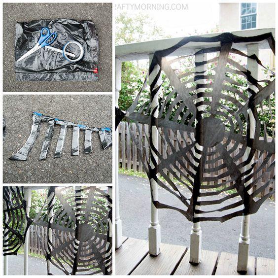 Trash Bag Spider Webs Diy Halloween Spider Web Diy Halloween